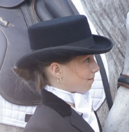 Dressage riding hat